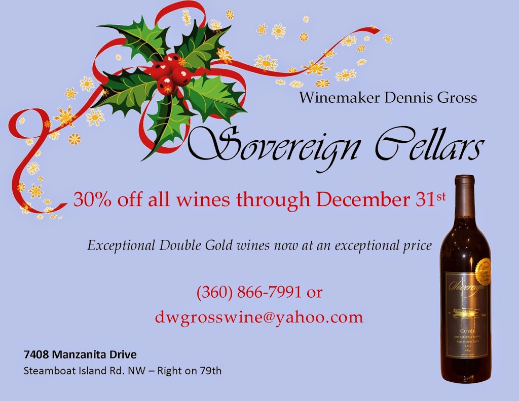 Sovereign Cellars holiday wine sale