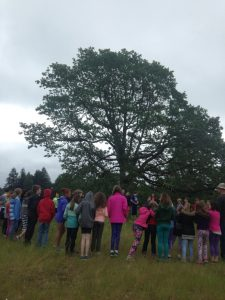Griffin students visit the prairie (photo credit: Shawna Zierdt)